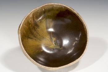 Dug up local clay becomes glaze