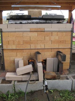 preheating throat kiln with propane