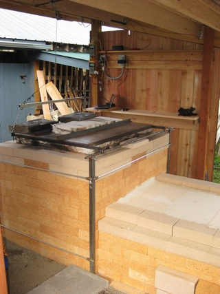 firebox and kiln body