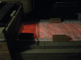 glowing kiln